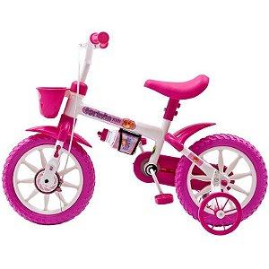 Bicicleta Fischer Ferinha Aro 12 Feminina Freio Manual(Fm) Rosa/Branco - 1338-11099