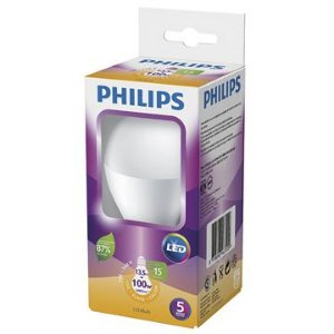 Lâmpada LED E-27 Bulbo 13,5W Bivolt 3000K 15000H Luz Branca Quente Philips