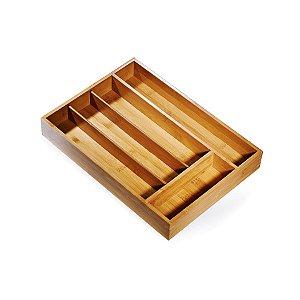 Porta Talheres em Bambu Welf - 5 Divisórias