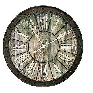 Relógio de Parede Decorativo de Ferro - 105 cm