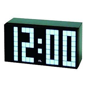 Relógio Despertador com Visor LCD Preto