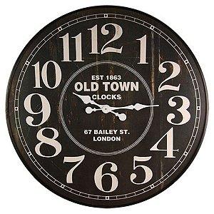 Relógio de Parede Decorativo Old Town - 80 cm
