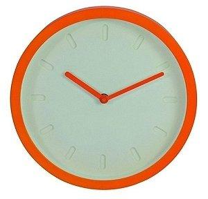 Relógio de Parede Decorativo Minimalista Branco / Laranja - 25 cm