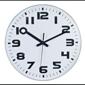 Relógio de Parede Decorativo Minimalista Branco / Preto - 28 cm
