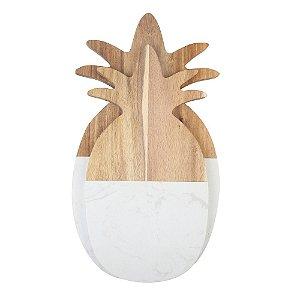 Conjunto de Tábuas de Madeira formato Abacaxi - 2 peças