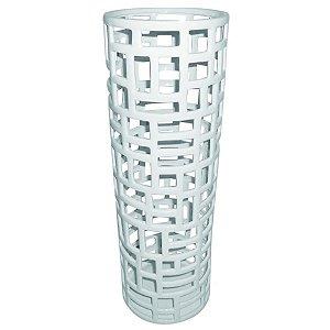 Porta Guarda-Chuva de Cerâmica Branco - 48 cm