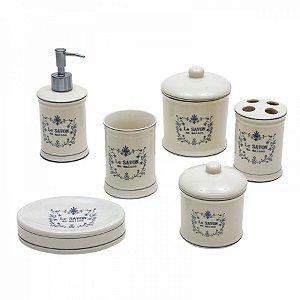 Conjunto para Banheiro de Porcelana Le Savon - 6 peças
