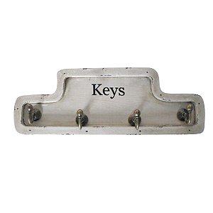 Porta Chaves de Madeira Keys - 4 Ganchos