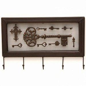 Cabideiro de Ferro Keys - 5 Ganchos