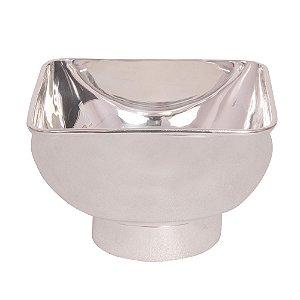 Tigela em Metal Prata - 18 cm