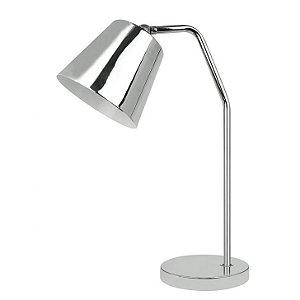 Luminária de Mesa para Escritório Premier Iluminação WL14040-1T Cromada