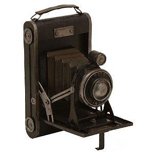 Objeto Decorativo Máquina Fotográfica de Metal - 23 cm