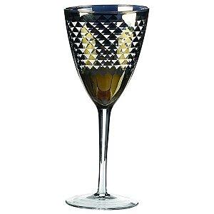 Conjunto de Taças para Vinho Verde Escuro / Branco - 6 Peças