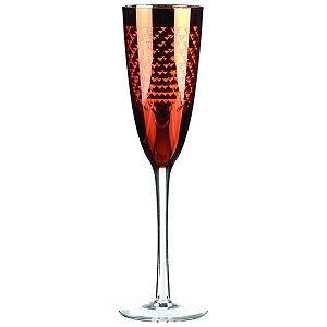 Conjunto de Taças para Champagne Vermelhas - 6 Peças