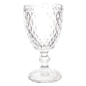 Conjunto de Taças Bico de Abacaxi Transparentes 18 cm - 6 Peças