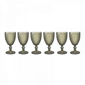 Conjunto de Taças Bico de Abacaxi Verde Escuro 18 cm - 6 Peças