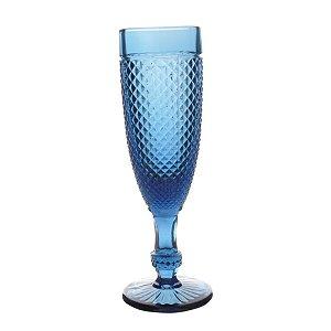 Conjunto de Taças Bico de Jaca Azul Marinho 20 cm - 6 Peças