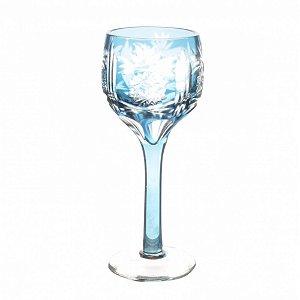 Conjunto de Taças Azul Claro Lapidadas 60 ml - 6 Peças