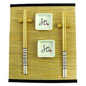 Kit Comida Japonesa para 2 Pessoas Branco - 7 Peças