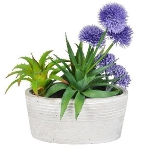 Plantas Artificiais Decorativas com Vaso de Cerâmica Branco - 32 x 21 cm