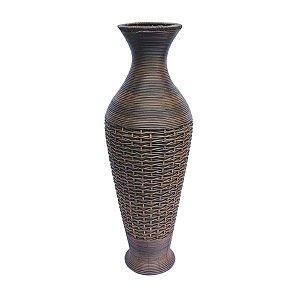 Vaso Decorativo de Fibra Sintética para Chão - 82 x 27 cm