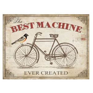 Placa Retangular Decorativa de Metal The Best Machine Ever Created - 30 x 40 cm