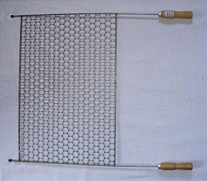 Grelha para Churrasco Moeda em Inox Art & Sabor - 60 x 40 cm