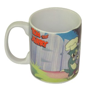 Caneca de Porcelana Hanna Barbera Tom e Jerry Festa do Churrasco - 300 ml