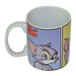 Caneca de Porcelana Hanna Barbera Tom e Jerry Faces de um Gato - 300 ml