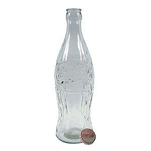 Cofre Decorativo de Vidro Garrafa Coca-Cola Transparente - 20 cm