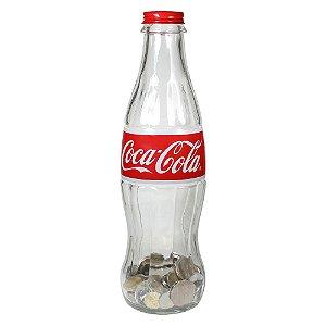 Cofre Decorativo de Vidro Garrafa Coca-Cola - 12 cm