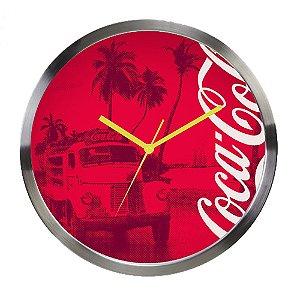 Relógio de Parede Decorativo de Metal Coca-Cola Rio de Janeiro - 30 cm