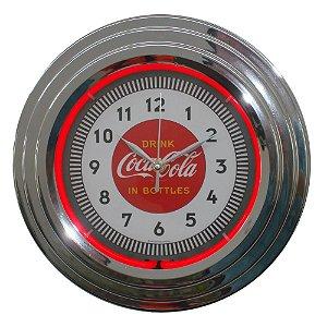 Relógio de Parede Decorativo Coca-Cola Single Neon - 30 cm