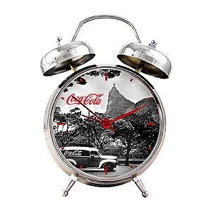 Relógio Decorativo de Metal Coca-Cola Rio de Janeiro - 16 cm