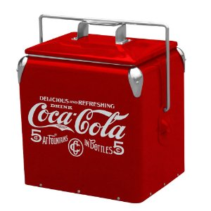 Cooler de Metal com Alça Coca-Cola 5 Cents Vermelho