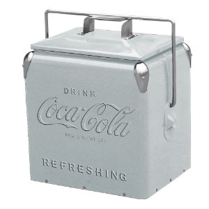 Cooler de Metal com Alça Coca-Cola Contemporary Silver