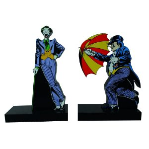 Aparador de Livros em Madeira DC Comics Joker and Penguim - 2 Peças