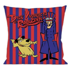 Capa para Almofada em Poliéster Hanna Barbera Corrida Maluca Dick Vigarista e Muttley - 45 cm