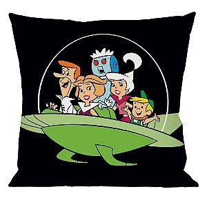 Capa para Almofada em Poliéster Hanna Barbera Os Jetsons Passeio em Família - 45 cm