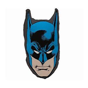Almofada Decorativa em Poliéster DC Comics Rosto do Batman - 45 x 23 cm