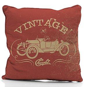 Capa para Almofada em Poliéster GM Vintage Car Jalopy - 45 cm