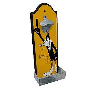 Abridor de Garrafas com Suporte para Parede em Madeira Looney Tunes Patolino - 36 cm
