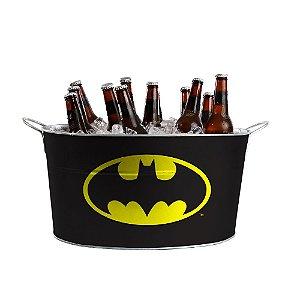 Balde de Gelo Oval com Alças Laterais DC Comics Batman Logo - 39 cm