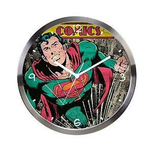 Relógio de Parede Decorativo de Metal DC Comics Superman - 30 cm
