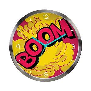 Relógio de Parede Decorativo de Metal DC Comics BOOM - 30 cm