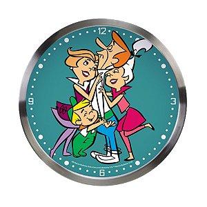 Relógio de Parede Decorativo de Metal Hanna Barbera Os Jetsons Família - 30 cm
