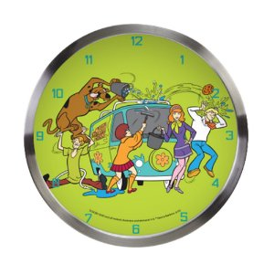 Relógio de Parede Decorativo de Metal Hanna Barbera Scooby-Doo e sua Turma - 30 cm