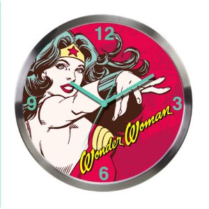 Relógio de Parede Decorativo de Metal DC Comics Wonder Woman - 30 cm