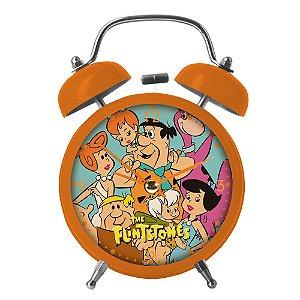 Relógio Decorativo Despertador de Metal Hanna Barbera Os Flintstones - 17 cm