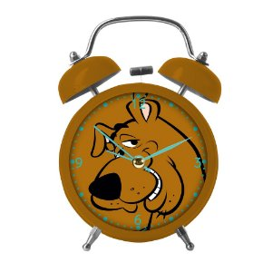 Relógio Decorativo Despertador de Metal Hanna Barbera Scooby-Doo - 17 cm